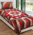Rangoli Print Single Cotton Bedsheet