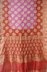 Shruti Enterprise Party Wear Gadwal Silk Saree, 6.5m (With blouse piece)