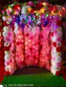 Multicolor Ganesh Festival Celebration Home Decoration Setup, In Mumbai