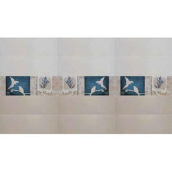 Ceramic White Glossy Wall Tile, For Indoor, Size: 250cm x 750cm