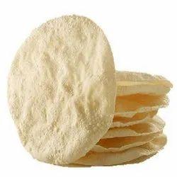 Salty Round Plain Appalam Papad, Size: 4 Inch, 6 Inch