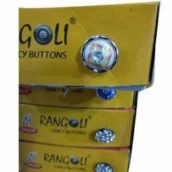 Rangoli Round Stylish Plastic fancy Button, For Coat