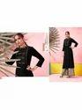 Maa Indian Fashion Black Rayon Ethnic Kurti With Palazzo Set