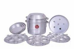 JK VALLABHDAS Aluminium C-01. Multipurpose Idli Pot, for Home
