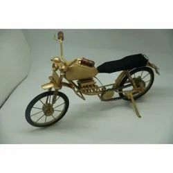 Iron and Wooden RAG 8102 Decorative Handicraft Motorcycle, for Home Decor