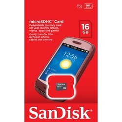 Sandisk 16GB Memory Card, for Mobile Phones