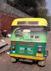 Auto Rickshaw Brands Promotion Hood