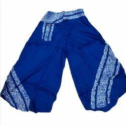 gujral fashion Rayon Blue Afgani Trouser