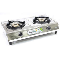 SuryaGreen Silver 2 Burner Optra Gas Stove for Kitchen