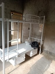 White Colour Bunk Bed With Locker