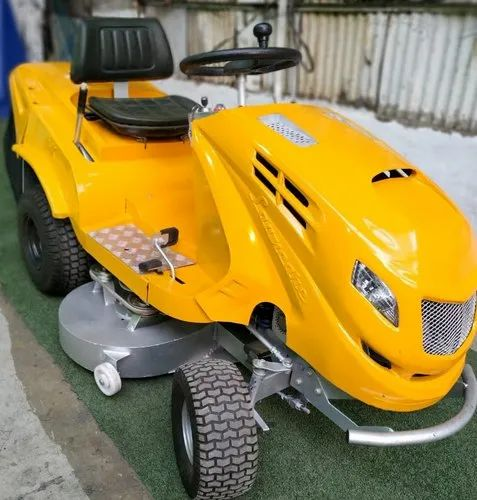 Yellow Lawncare Rideon 40'  Rear Discharge Rideon Tractor Mower