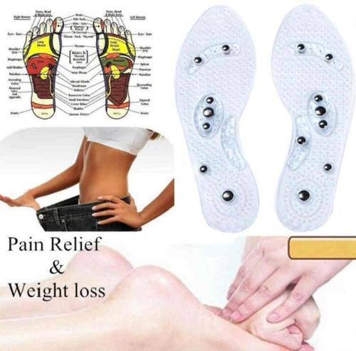 Unisex Foot Magnet Therapy Massage Silicone Gel Insoles Pads Orthotic Cushion