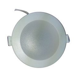 ABS Plastic Everlite White LED Downlight, El 05, Shape: Round