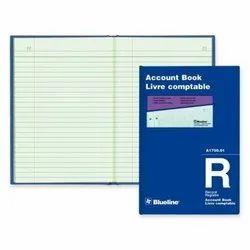 Single Line Account Book, Blue, White