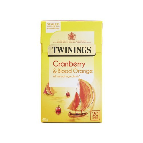 Twinings Cranberry & Blood Orange, 20 Tea Bags - 40g, Packaging Type: Box