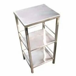 Three Shelves Hospital Bedside Table