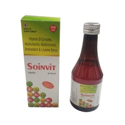 Vitamin B-Complex, Multivitamin, Multiminiral, Antioxidant & L-Lysine Syrup