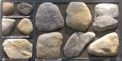 Random Multy Color Granimitz - River Rock for Wall, Dimensions: Random