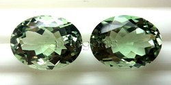 Green Amethyst Oval Cut Gemstone