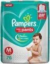 Pampers Baby Pant Diapers M-76 (Mrp 1049)