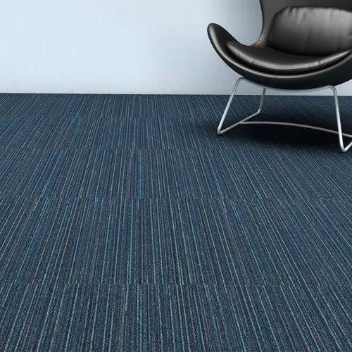 Plain Blue Carpet Flooring Thickness, Blue Laminate Flooring