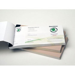 English Multicolor Voucher Book, Custom Made Vouchers, Self