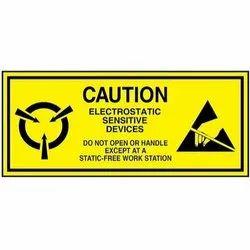 Caution Paper Labels