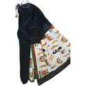 Khadi Black Printed Handloom Saree, Length: 6.3 M