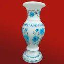 Italian Marble Peacock Design Flower Vases