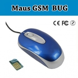 Mouse Style Hidden Ear Bug GSM SIM Card Voice Bug