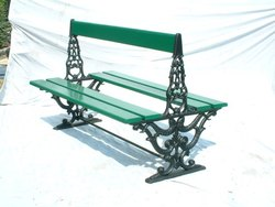 Garden Bench Double Seat With Backrest