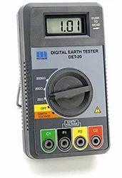Motwane DET-20 Earth Tester Resistance Range 0.01 to 2000 Ohms With Spike Kit