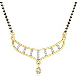 Diamond Mangalsutra Tanmaniya In Diamond