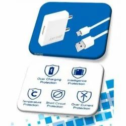 White Just One Travel USB Charger