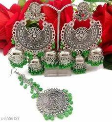 Green Designer Earrings