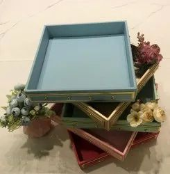 Designer Leather Wedding Box And Tray