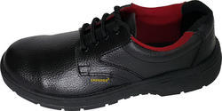 Black All Sizes Rexine Safety Shoes