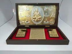 Gold Plated Shankar Bhagwan Photo Frame Box