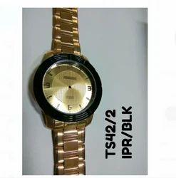 Golden Stylish Wrist Watch