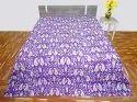 Kantha Quilt Handmade Gudri Printed Bed Cover