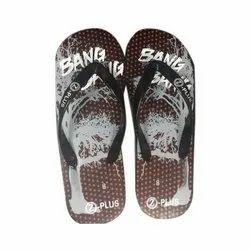 Z-Plus Daily wear Mens Fancy Rubber Slipper, Size: 8