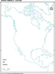 North America Outline Of Map