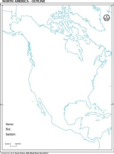 Map Of America Outline.North America Outline Of Map