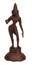 Poompuhar Black Oxidized Sivagami for Home, Size: 2 X 3 X 6 Inch