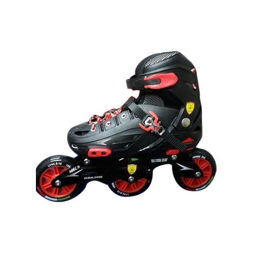 Red Polyurethane Inline 3 Wheels Skates
