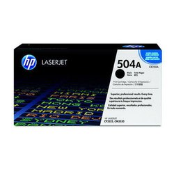 HP 504A Black Original LaserJet Toner Cartridge, CE250A
