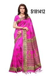 Fancy Printed Daily Wear Bhagalpuri Silk Saree