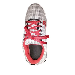 Red And White Women Ladies Canvas Shoes, Size: 4-9