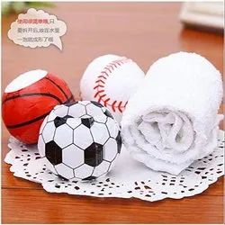 100% Cotton Compressed Ball Shaped Magic Towel for Travelling (Pack of 6)