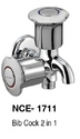 Short Body Wall Mounted Bib Cock 2 In 1, For Bathroom Fittings, Model Name/number: Nce1711